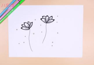 莲花简笔画视频    莲花简笔画步骤图