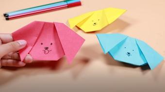 狗头折纸视频教程    狗头折纸步骤图
