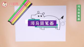 河马简笔画视频   河马简笔画步骤教程