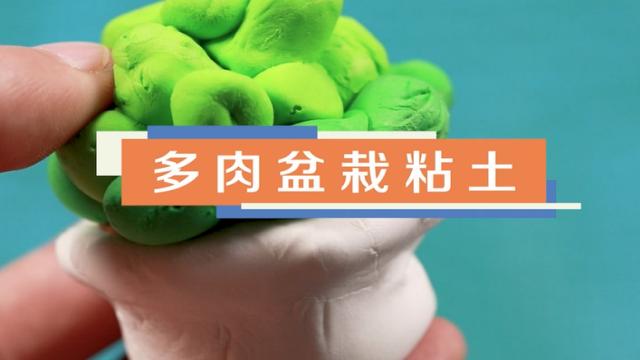 多肉盆栽粘土视频教程 多肉盆栽粘土制作方法