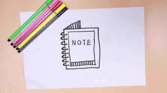 笔记本简笔画视频  笔记本简笔画步骤图