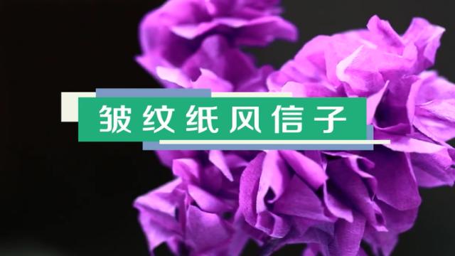 紫色风信子制作方法 皱纹纸风信子视频教程